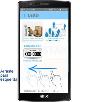 consulta rapida dos produtos e servicos no aplicativo android para oficina mecânica