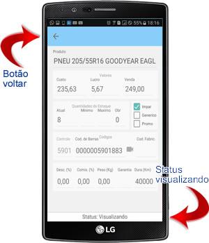 detalhes dos produtos e servicos no aplicativo android para oficina mecânica