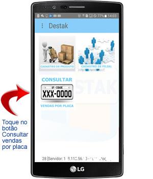 consultar vendas por placa no aplicativo android para oficina mecânica