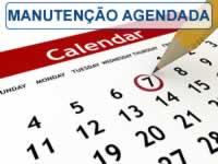 calendário de manutenção agendada no programa para oficina mecânica