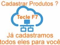 no programa para oficina mecânica teclando F7 para cadastrar produtos